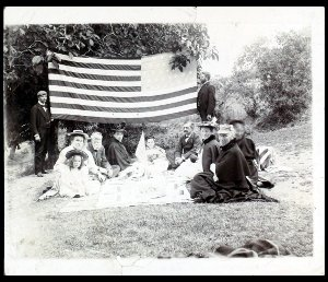 American Board missionaries at a Fourth of July picnic near Merzifon in the late nineteenth century.